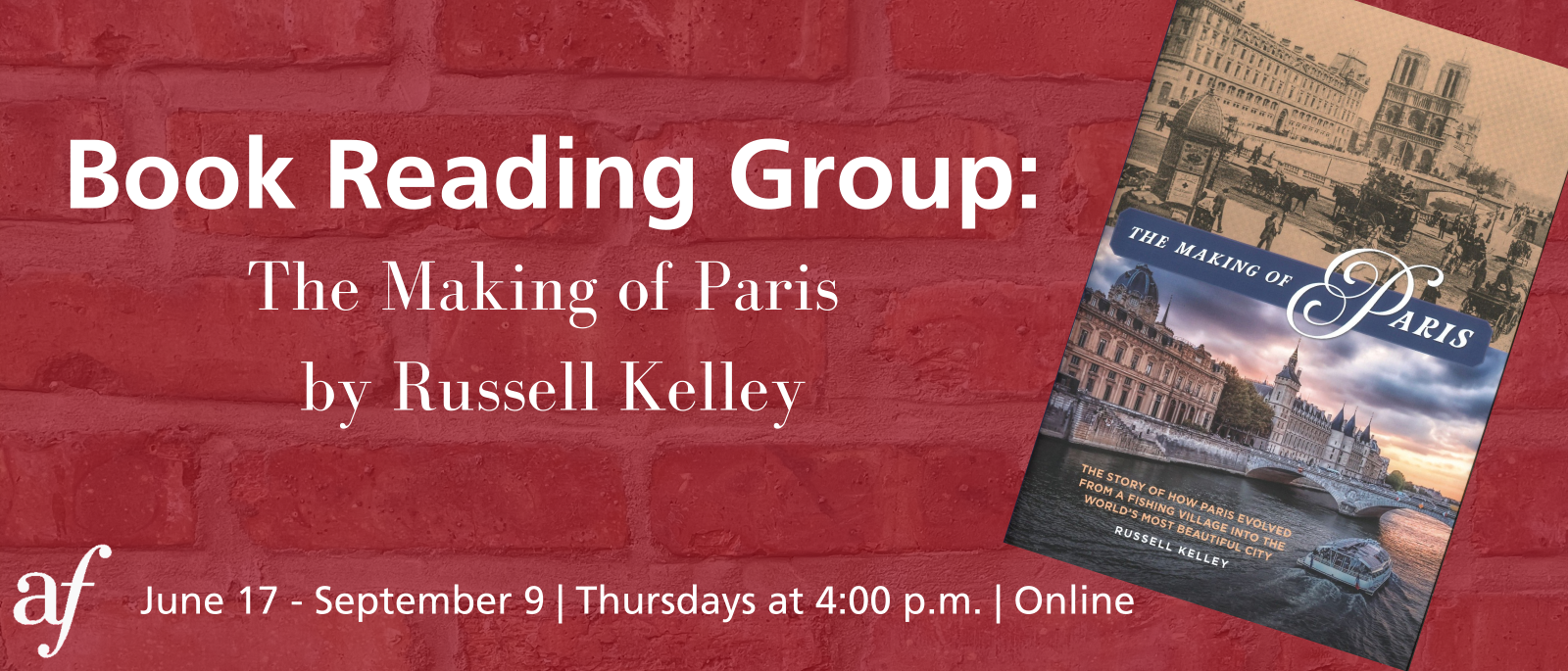 Book Reading Group: The Making of Paris - Session 4