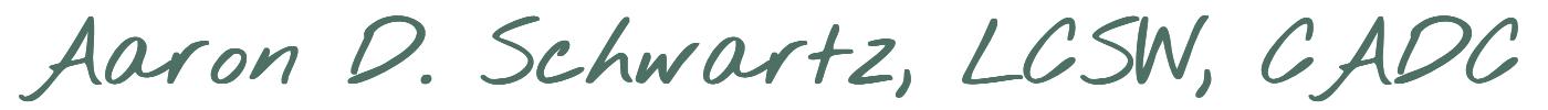 Aaron D. Schwartz, LCSW, CADC logo